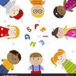 Muliracial Friendship Friends Children Square Frame Stock Vector Royalty Free 431717632