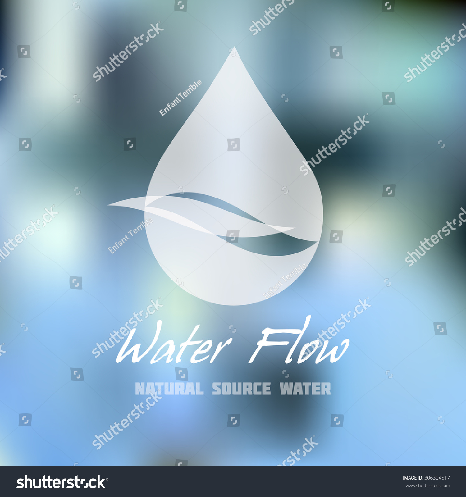 Natural Source Or Mineral Water Vector Icon Plumbing Service Symbol Brand Visualization
