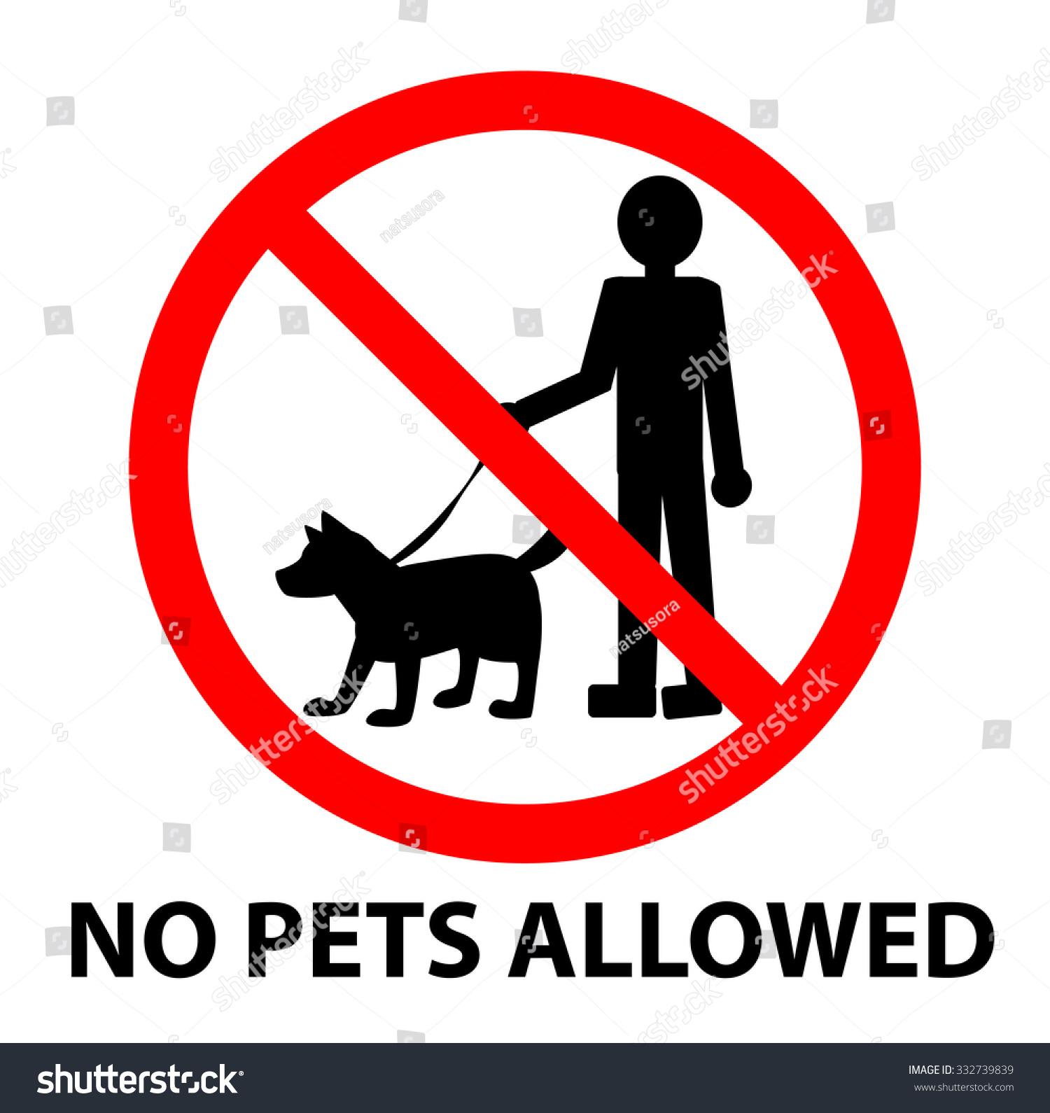 No Pets Allowed Sign Vector