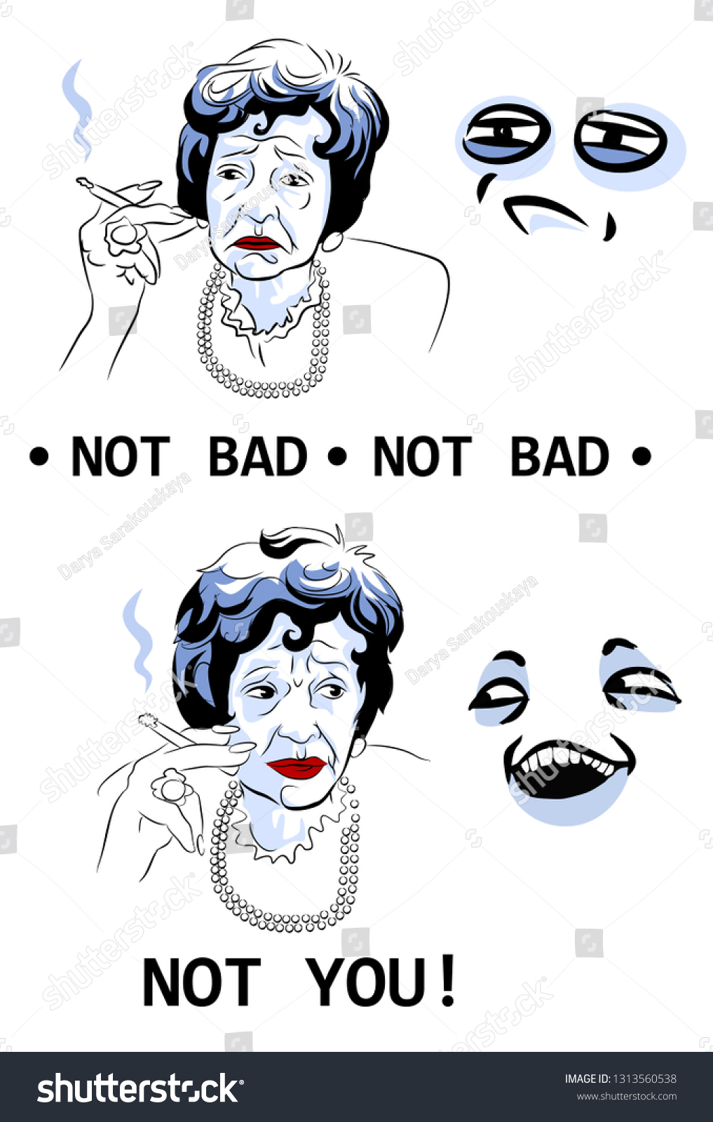Not Bad Not You Internet Meme Stock Vector Royalty Free 1313560538