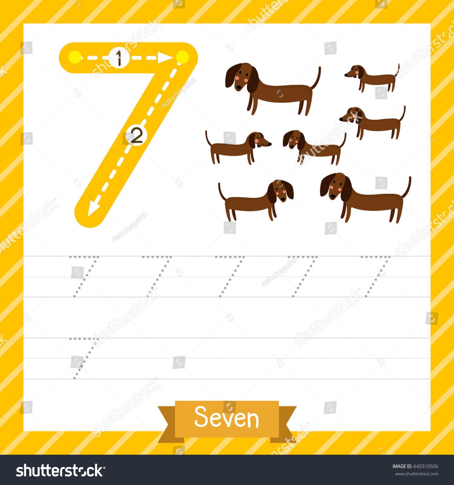Number Seven 7 Worksheets For Preschool Number Best Free