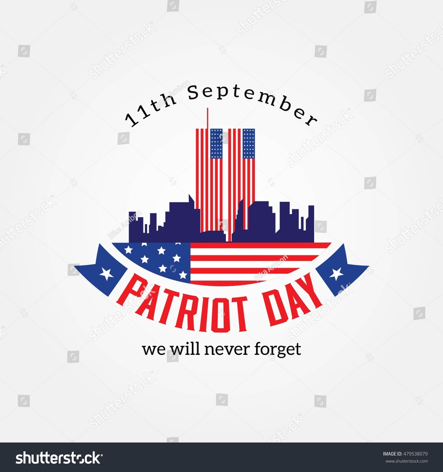 Patriot Day American Flag Patriot Day Stock Vector