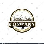 Pig Farm Vintage Logo Design Vector Stock Vector Royalty