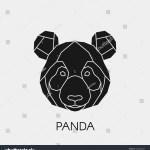Polygonal Black Panda Head Made Geometric Stock Vector Royalty Free 1038586699
