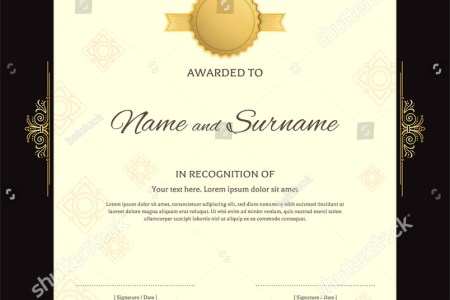 Portrait Luxury Certificate Template Elegant Red Stock Vector     Portrait luxury certificate template with elegant red and golden border  frame  on Thai background