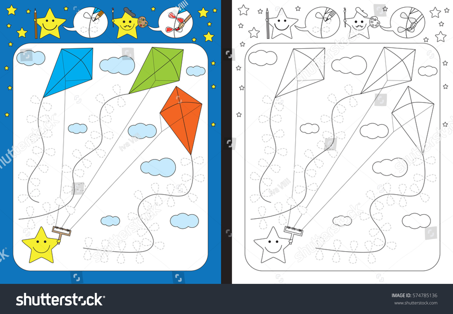 Kite Preschool Matching Worksheet Kite Best Free Printable Worksheets