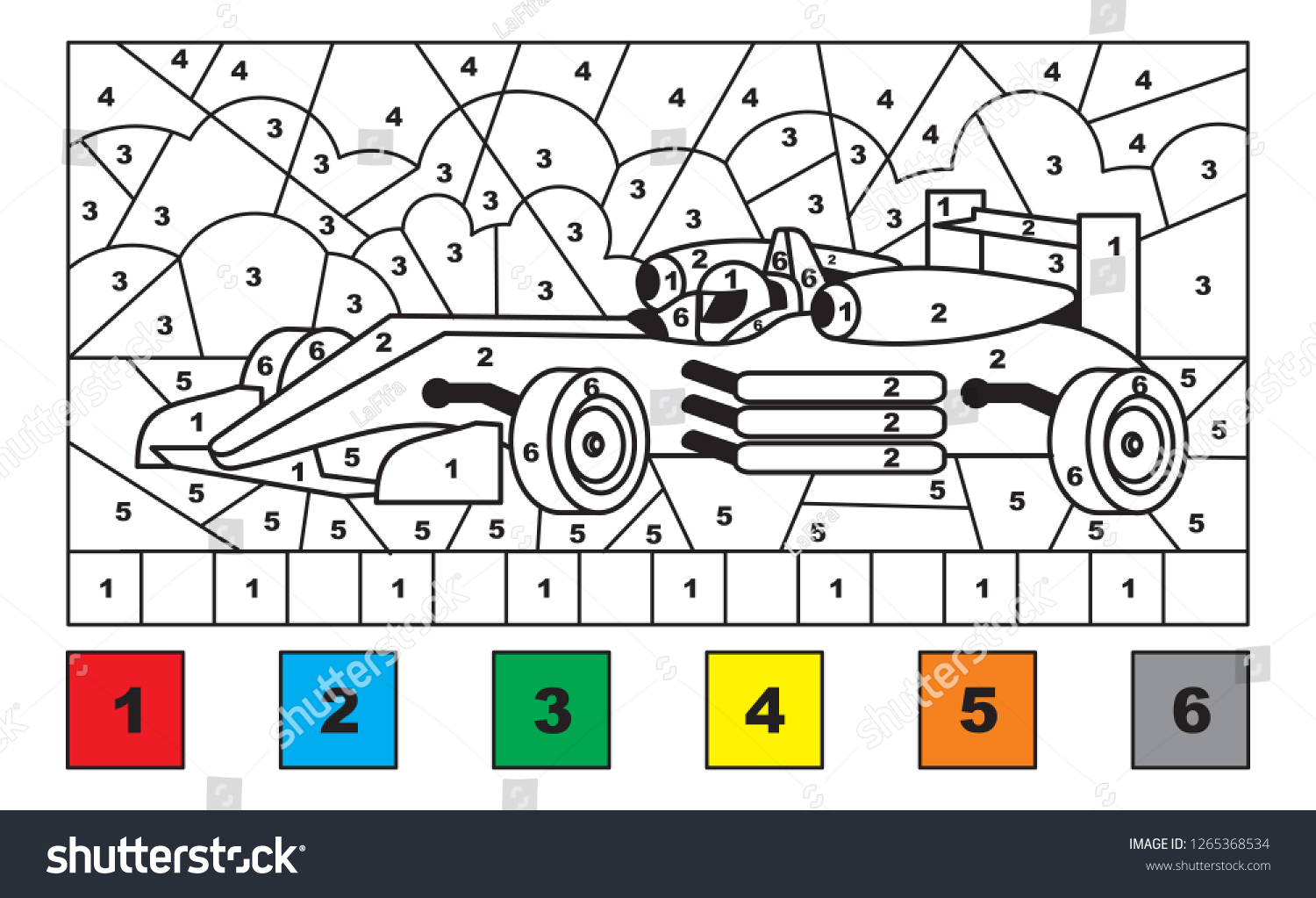 Car Coloring By Number