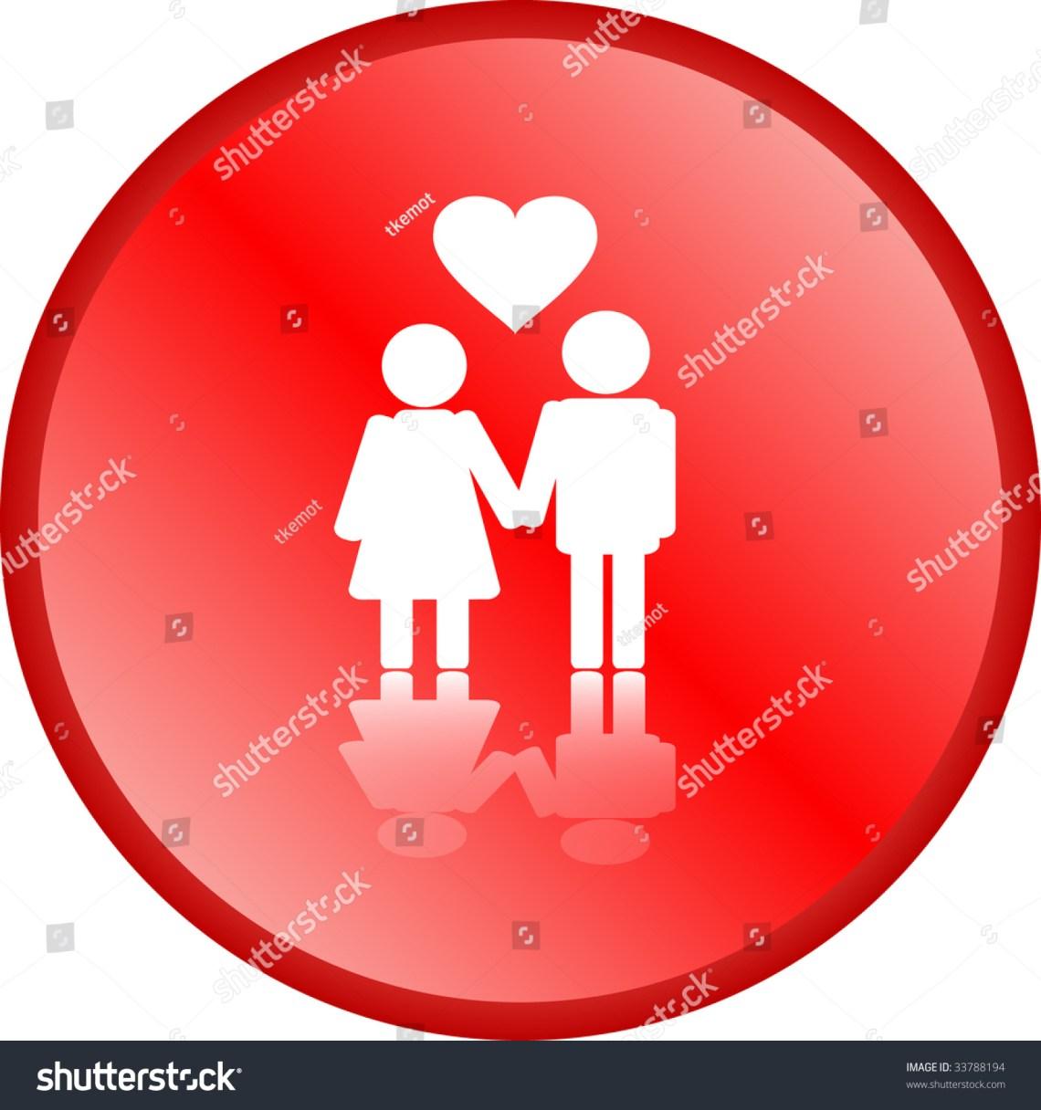 Download Red Love Couple Button Stock Vector Illustration 33788194 ...
