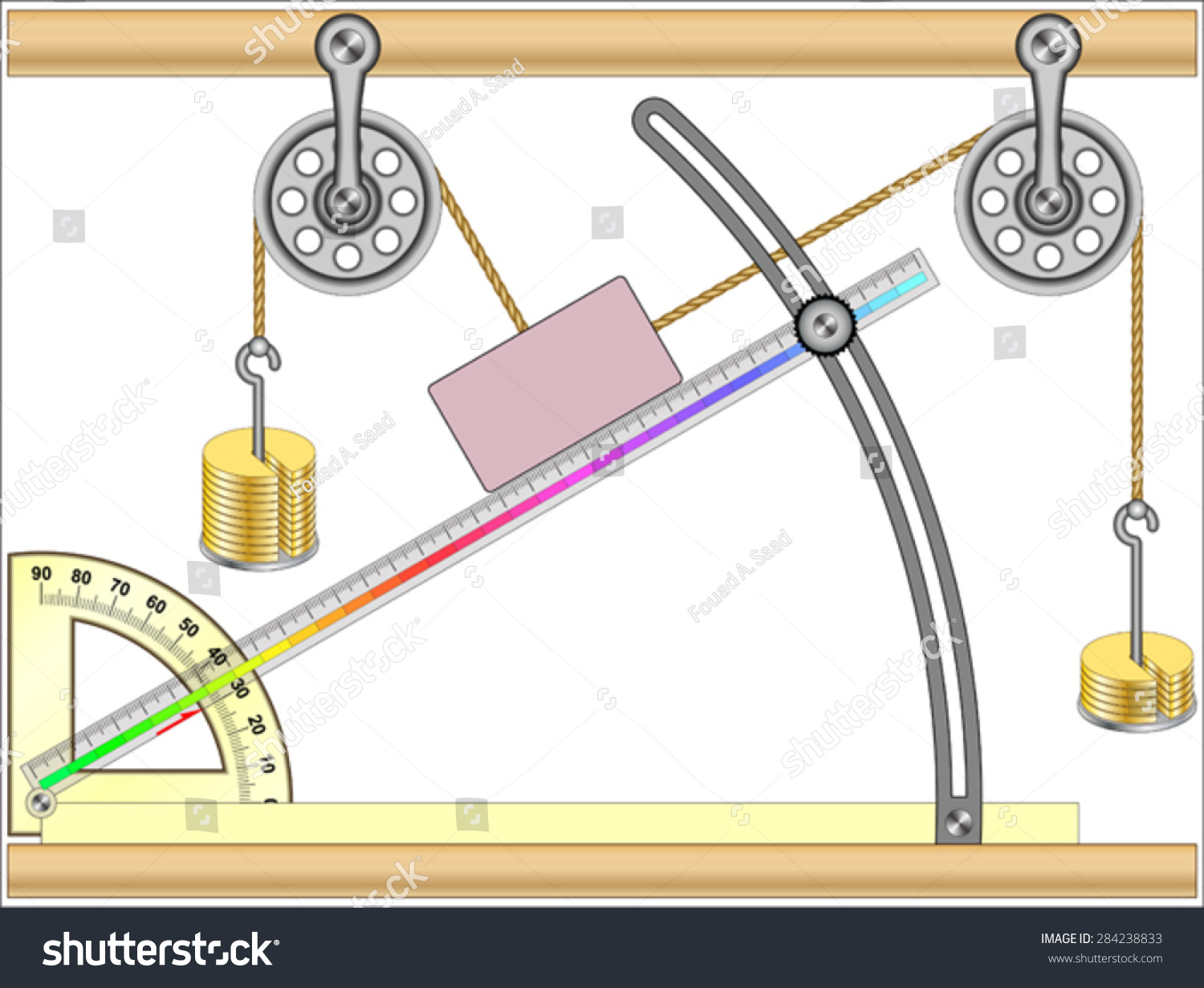 Resolution Of Forces And Inclined Planes Stock Vector