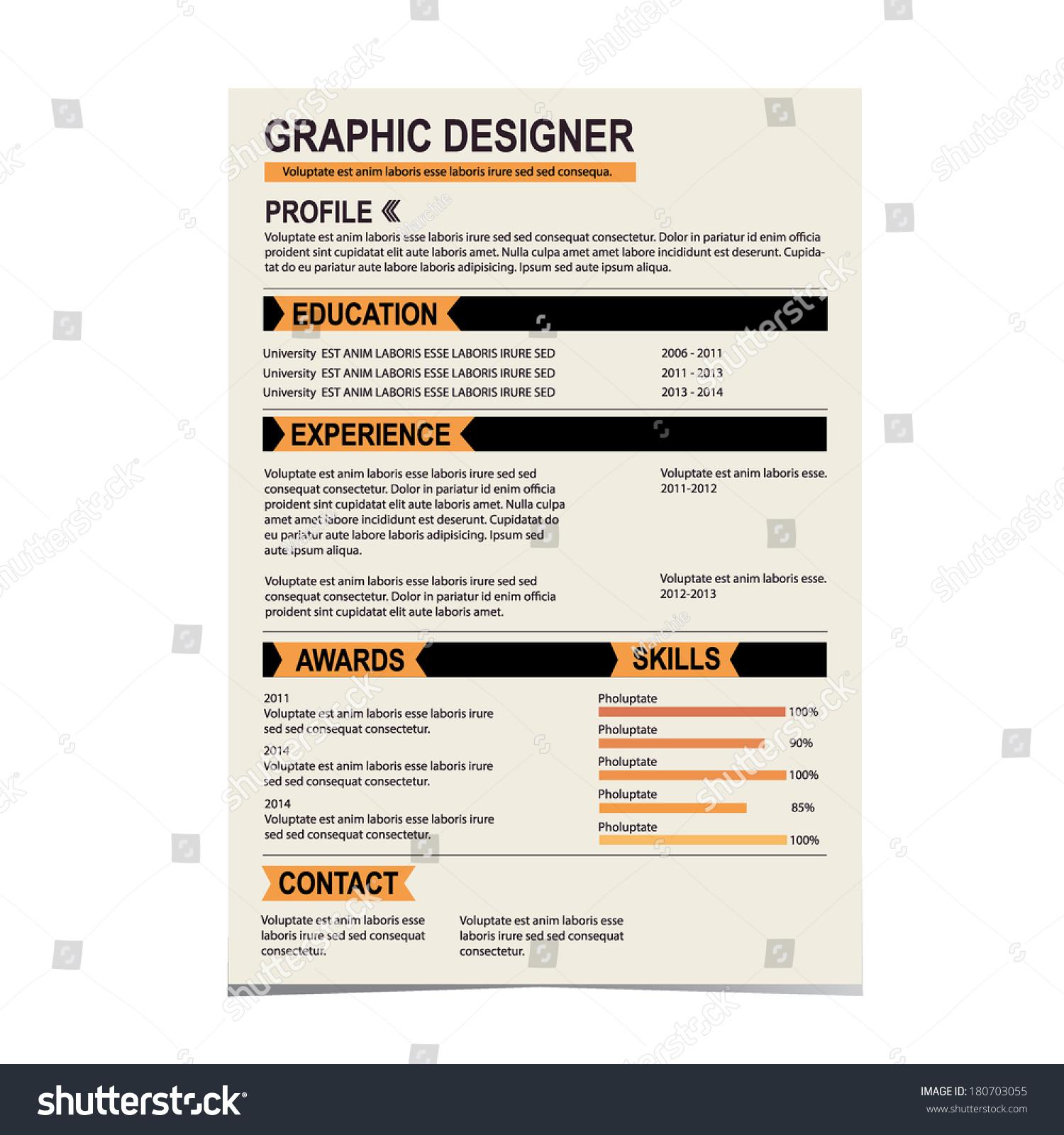 original cv resume template stock vector image 51758278 images