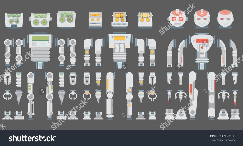Robot Design Attributesbody Parts Other Details Stock
