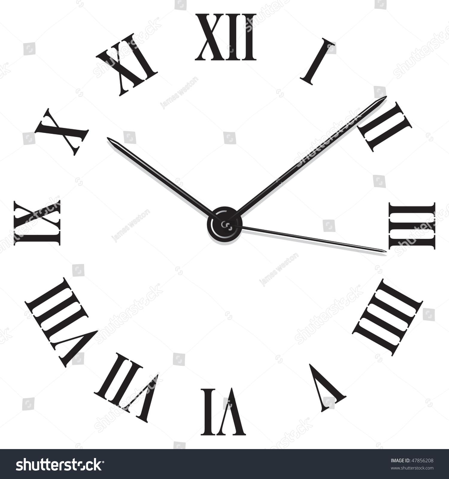 Roman Numeral Clock Stock Vector Illustration Shutterstock