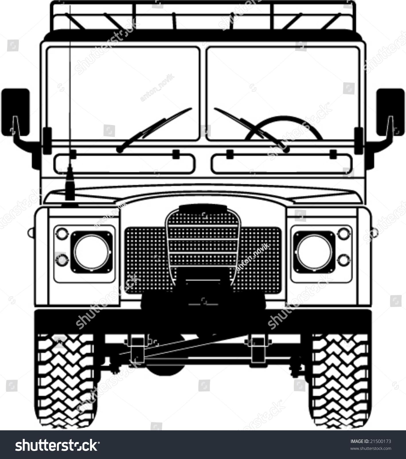 Safari Landrover Front Car Vector Stock Vector Shutterstock