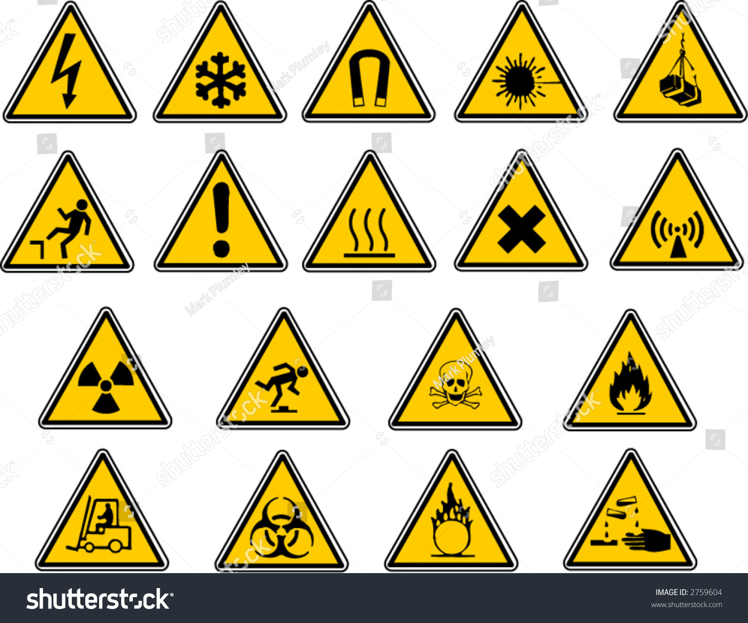 Safety Signs Your Vector Work Stock Vector