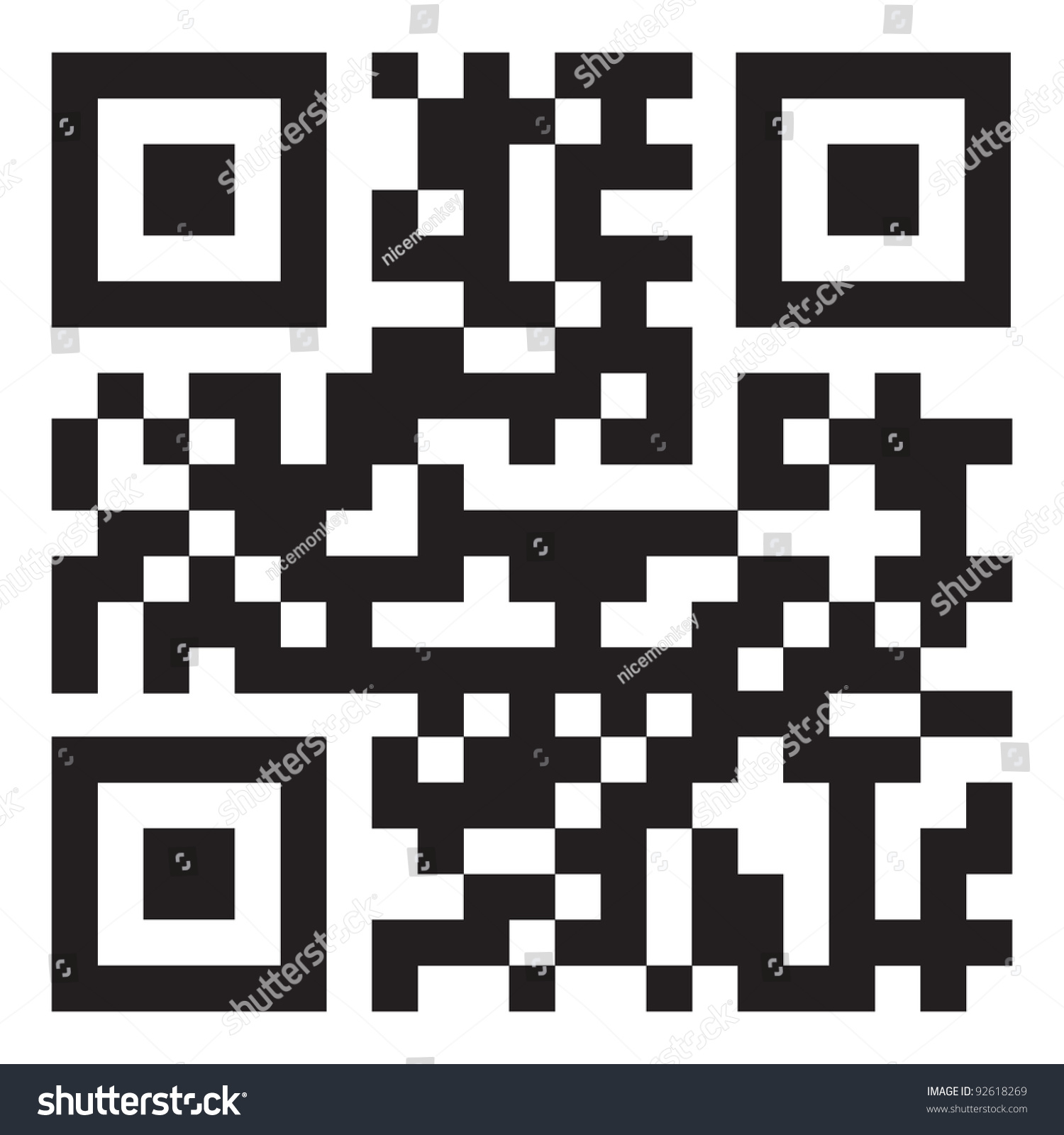 Sample Qr Code Ready To Scan With Smart Phone Stock Vector 92618269 : Shutterstock