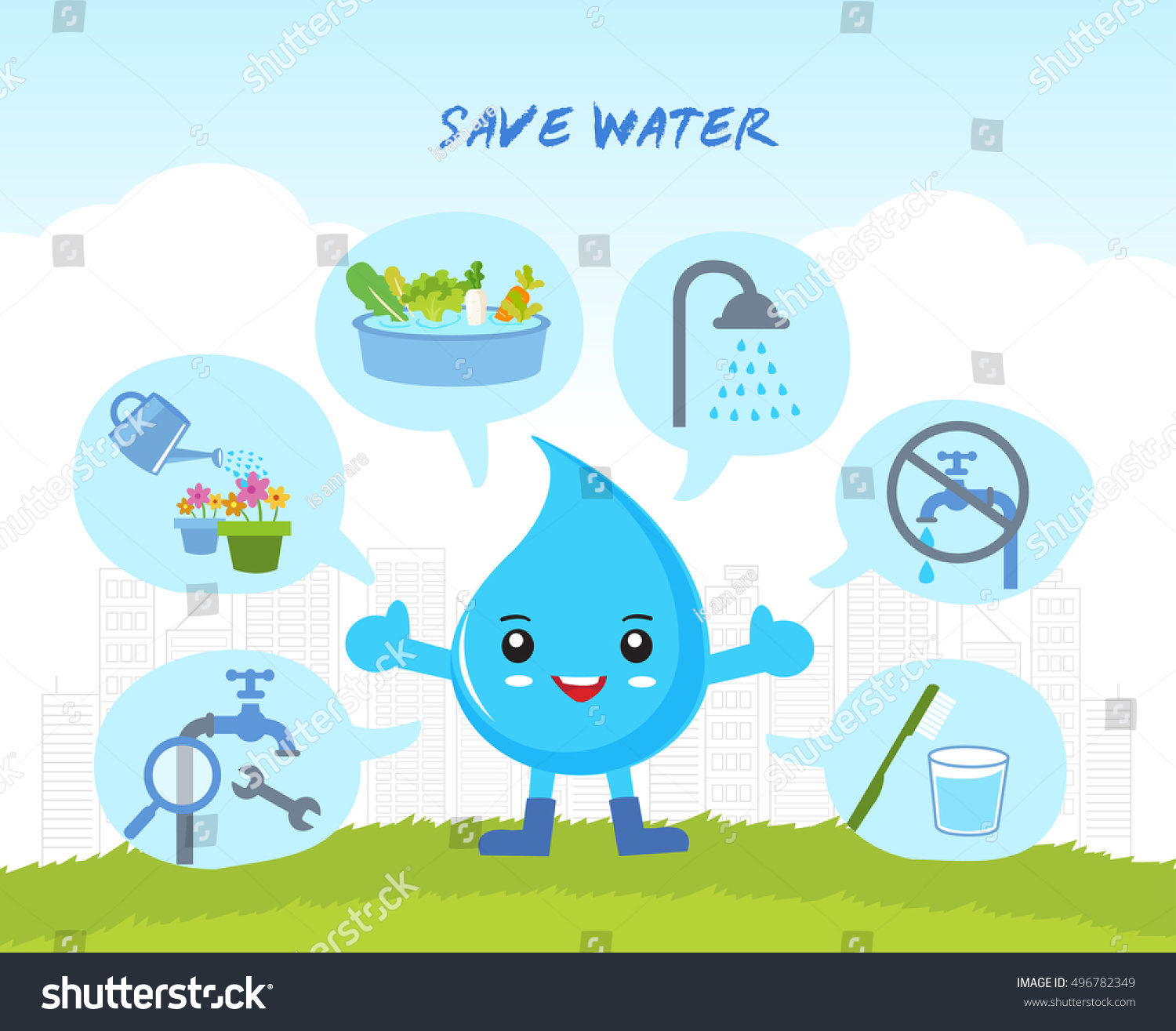 Water Pollution Cartoon Images For Kids