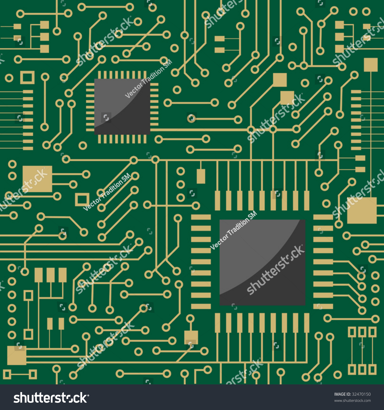 Seamless Background Showing Schematic Diagram Electronic