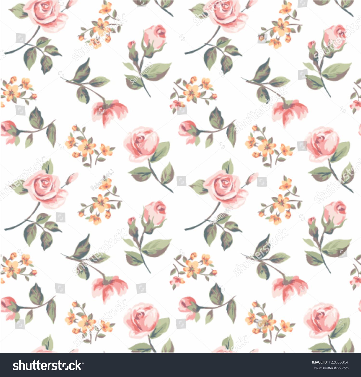 seamless pastel color vintage tiny flower pattern background stock