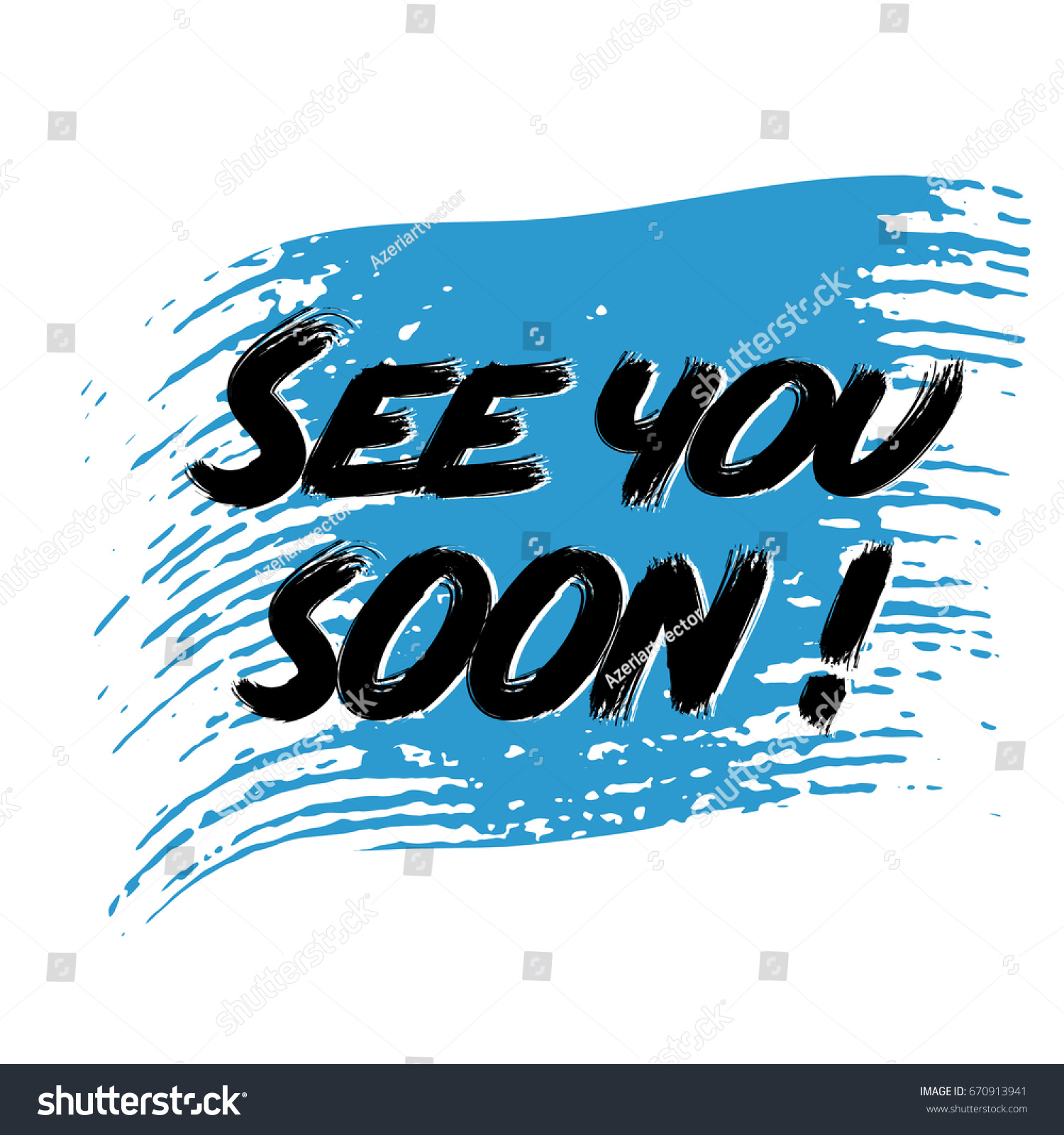 See You Soon Modern Black See Stock Vector