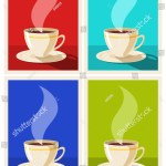 Vector De Stock Libre De Regalias Sobre Set Art Deco Coffee Posters Coffee1340215364