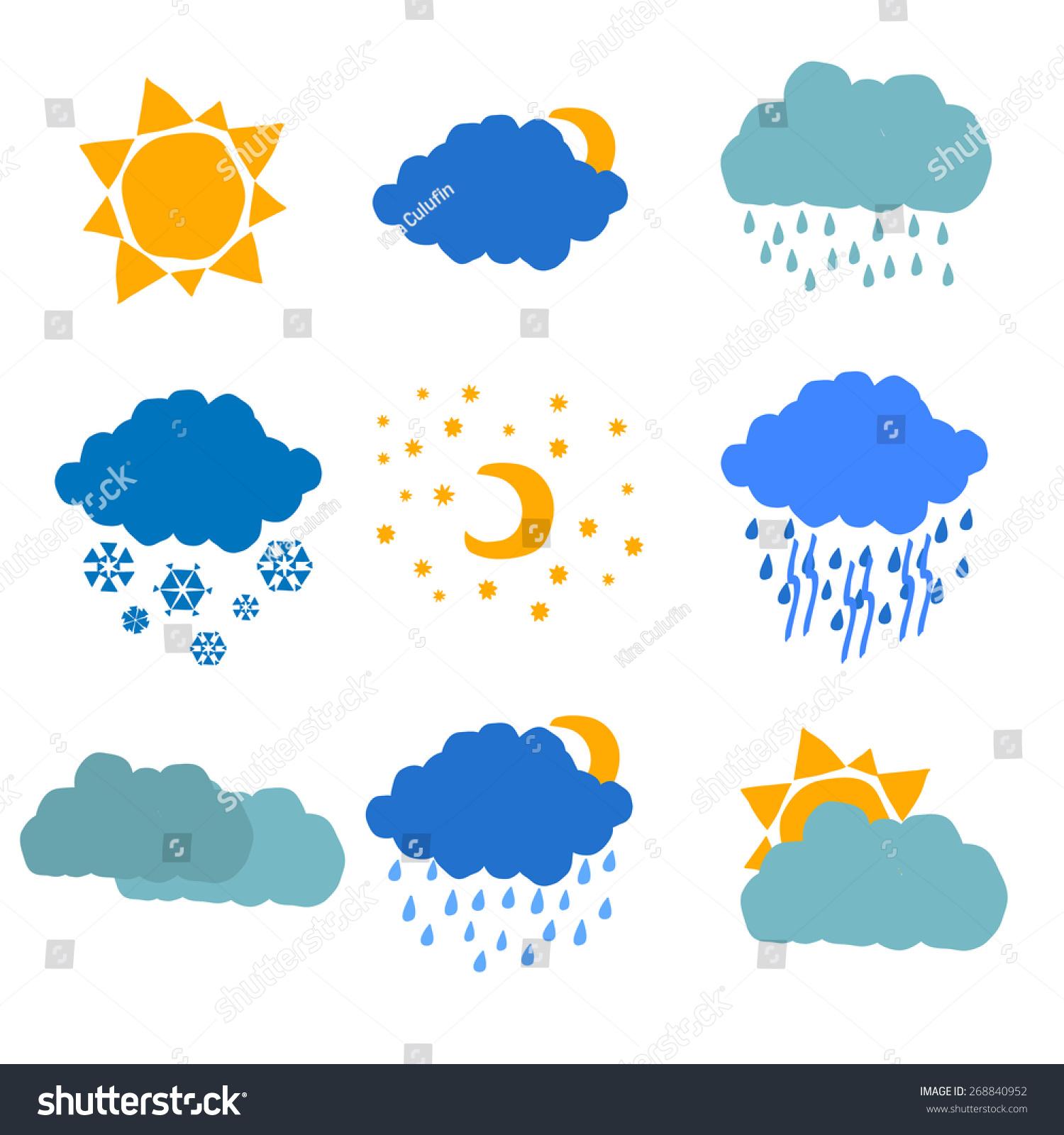 Rain And Snow Clip Art Cliparts