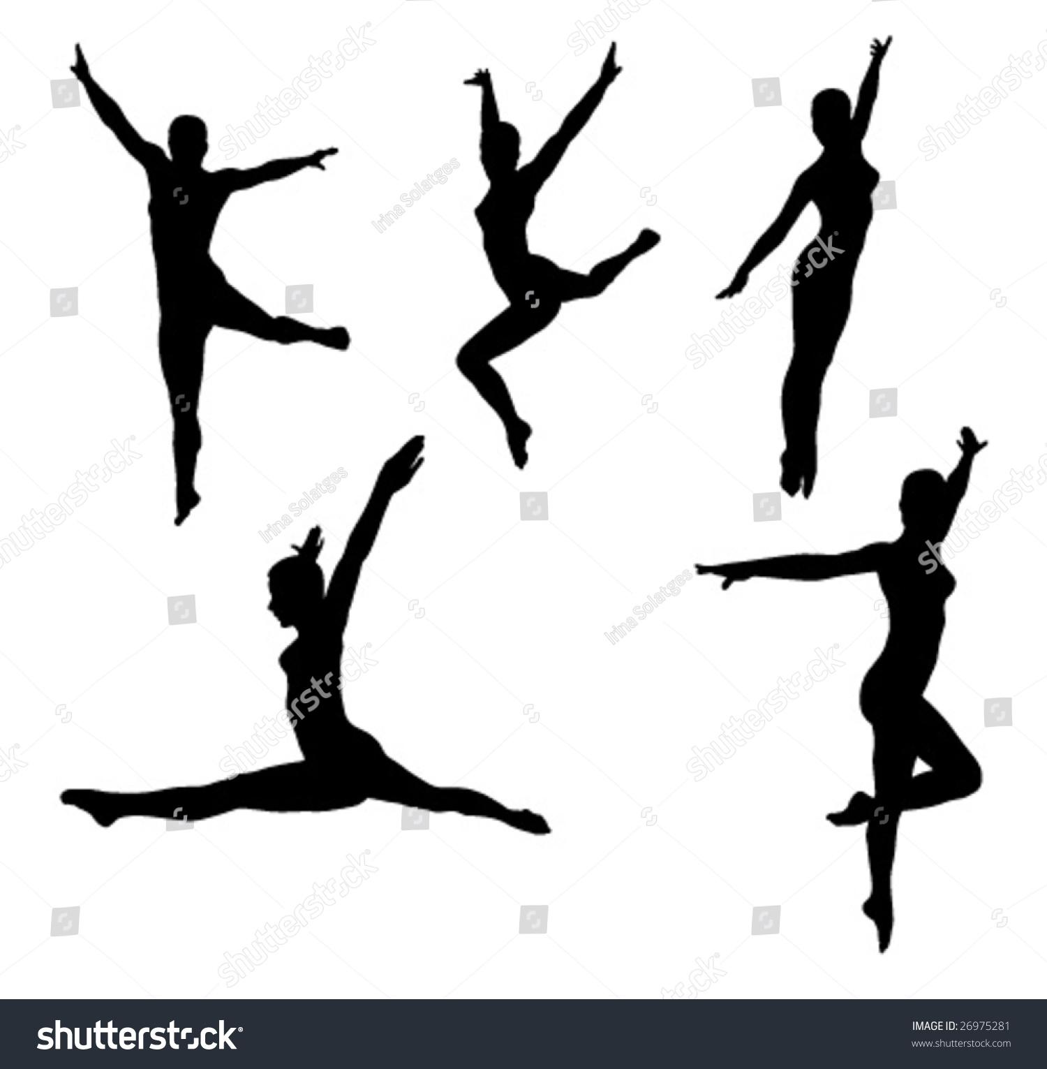 Teal Silhouette Backround Dancer
