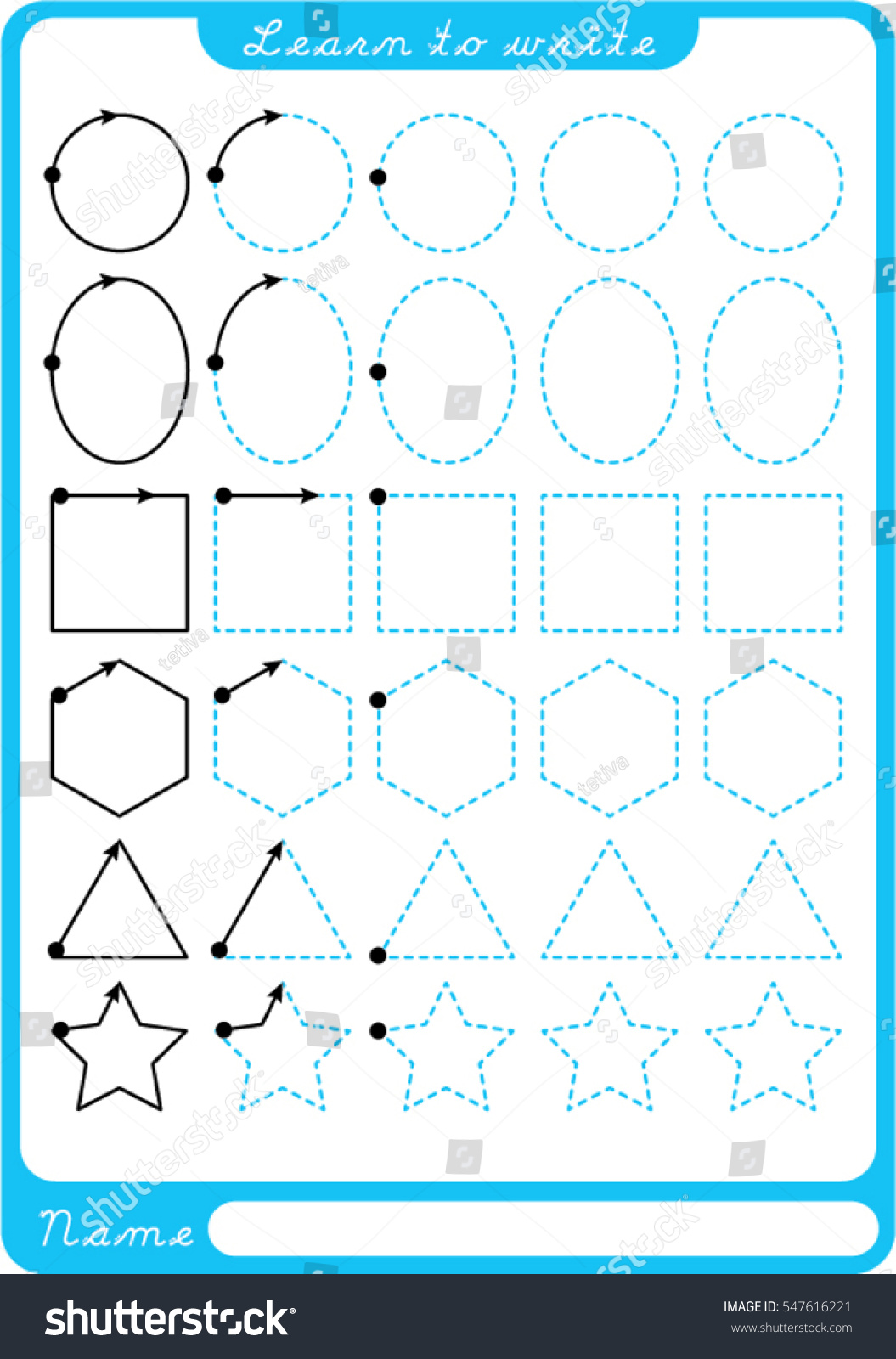 Preschool Shapes Worksheet Tracing Circle