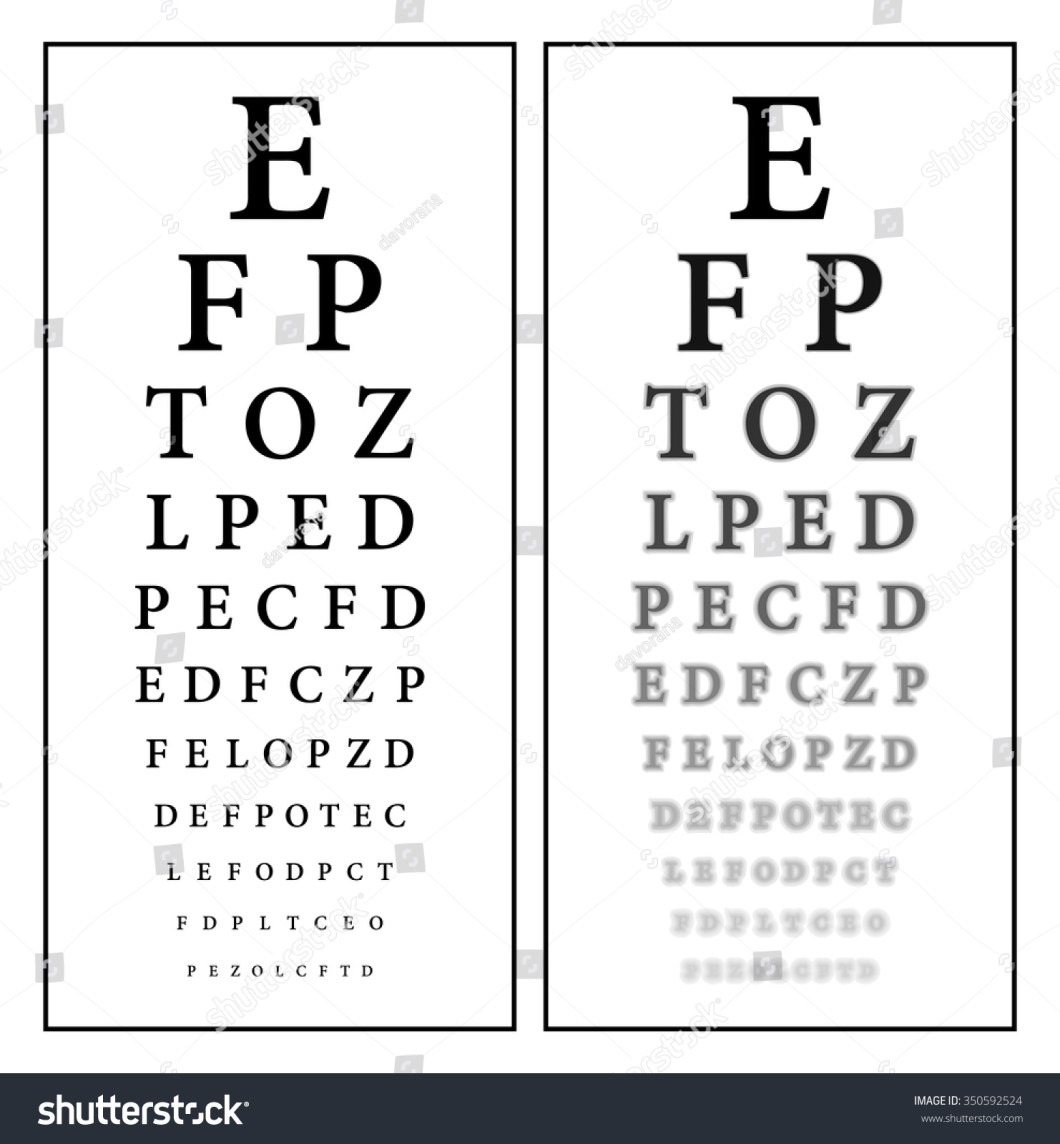 Vector snellen eye test chart decorativestyle sharp unsharp snellen eye chart vision stock vector 350592524 nvjuhfo Images