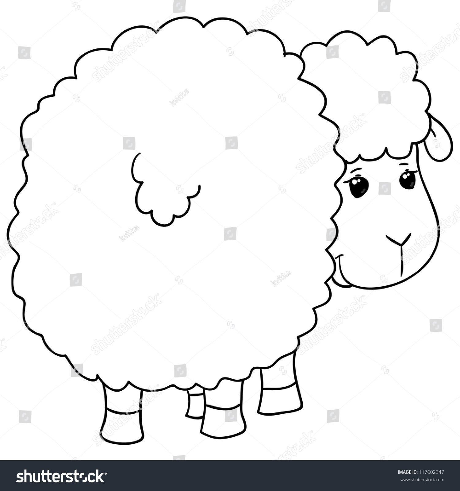 sheep coloring stock vector illustration 117602347 shutterstock