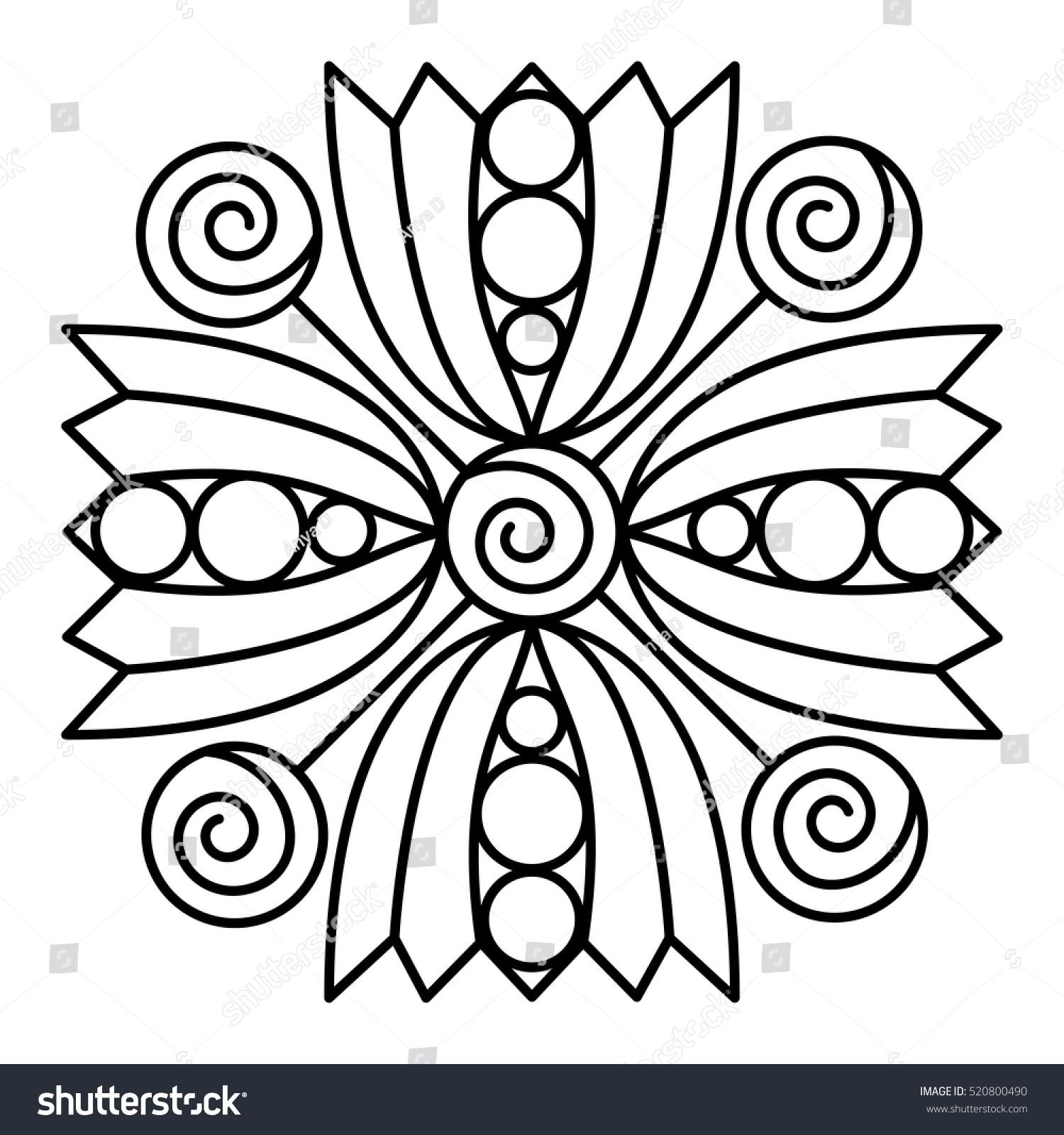 Geometric Shape Coloring Page Designs