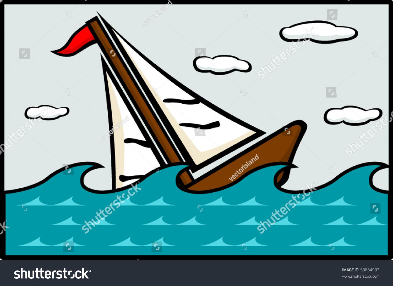 Sinking Ship Stock Vector