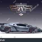 Super Car Design Concept Unique Modern Stock Vector Royalty Free 495727291