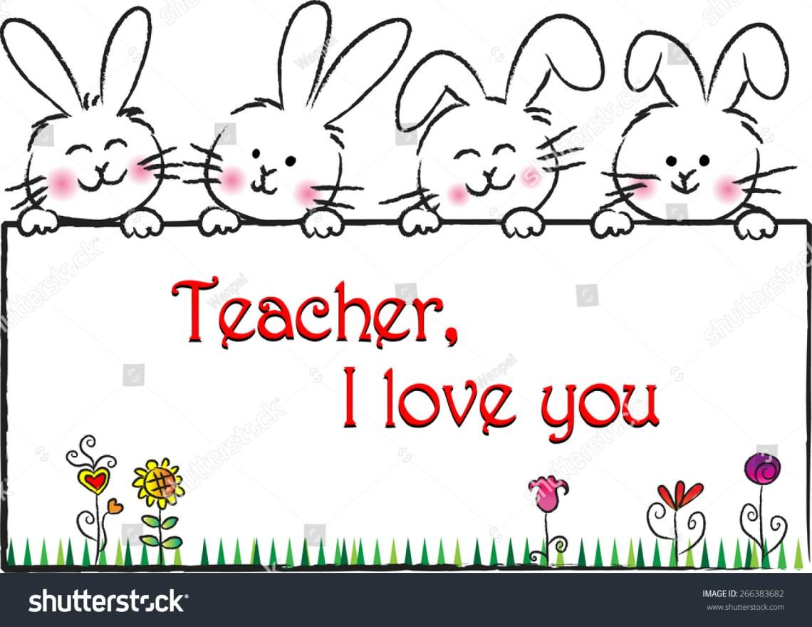 Download Teacher, I Love You Stock Vector Illustration 266383682 ...