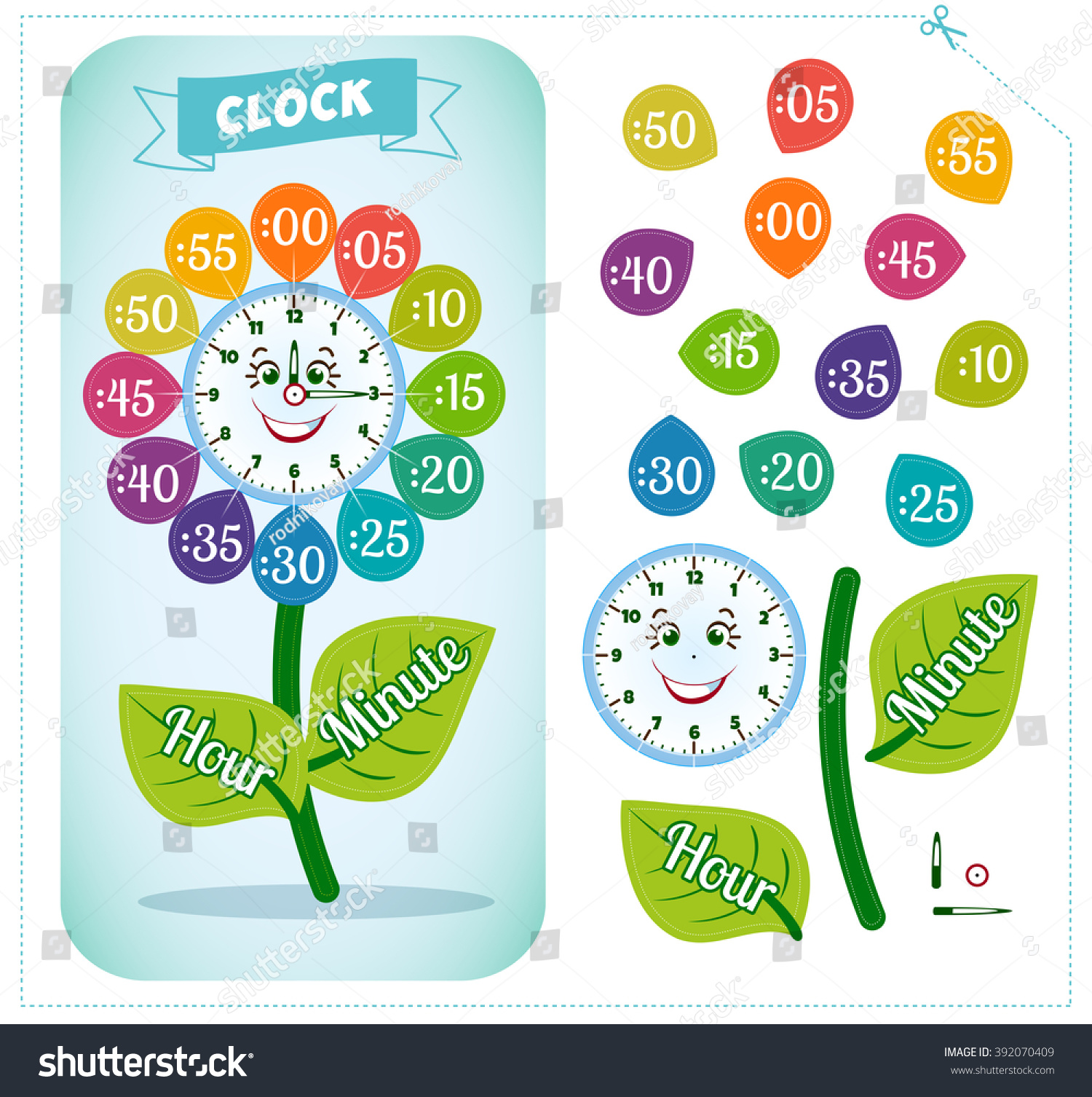 Telling Time Worksheet For School Kids To Identify The