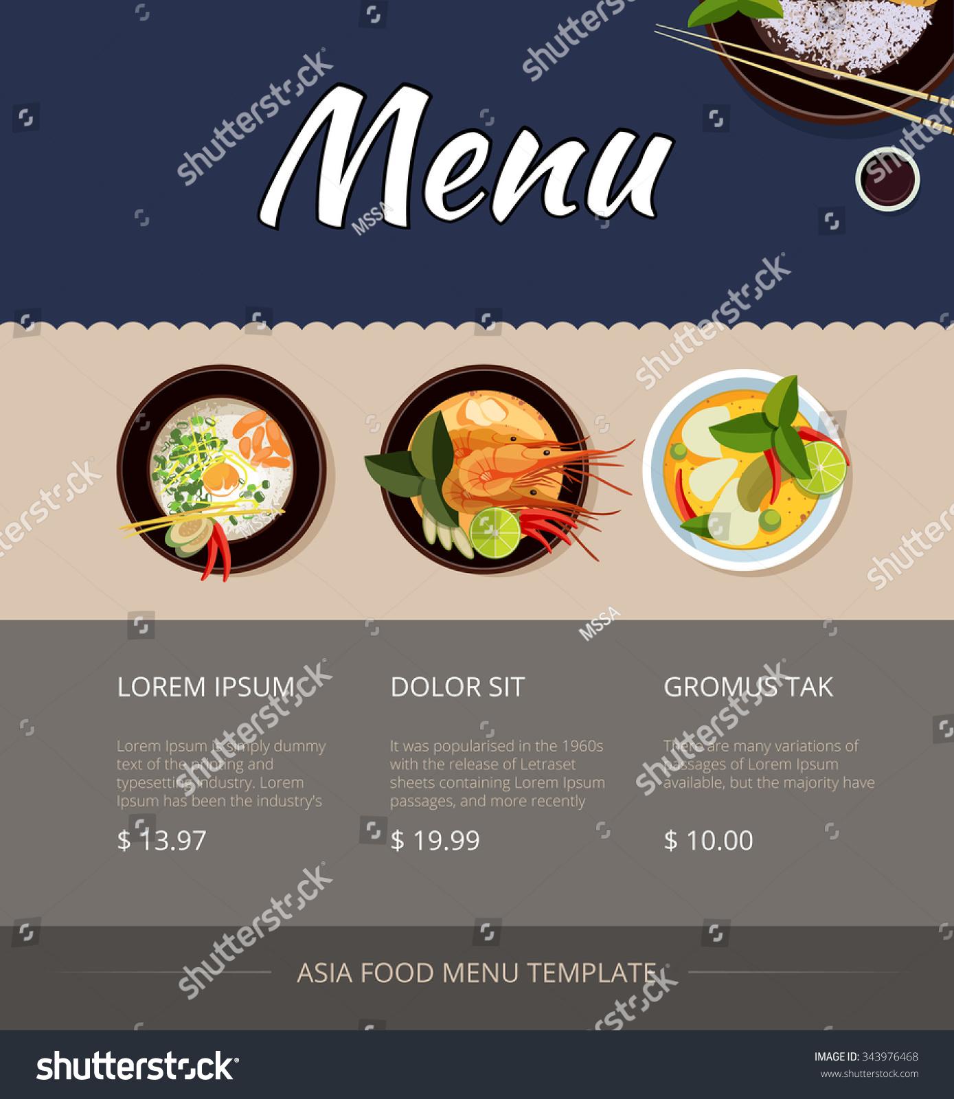 Breakfast Menu Template with blank side hotel menu template – Breakfast Menu Template