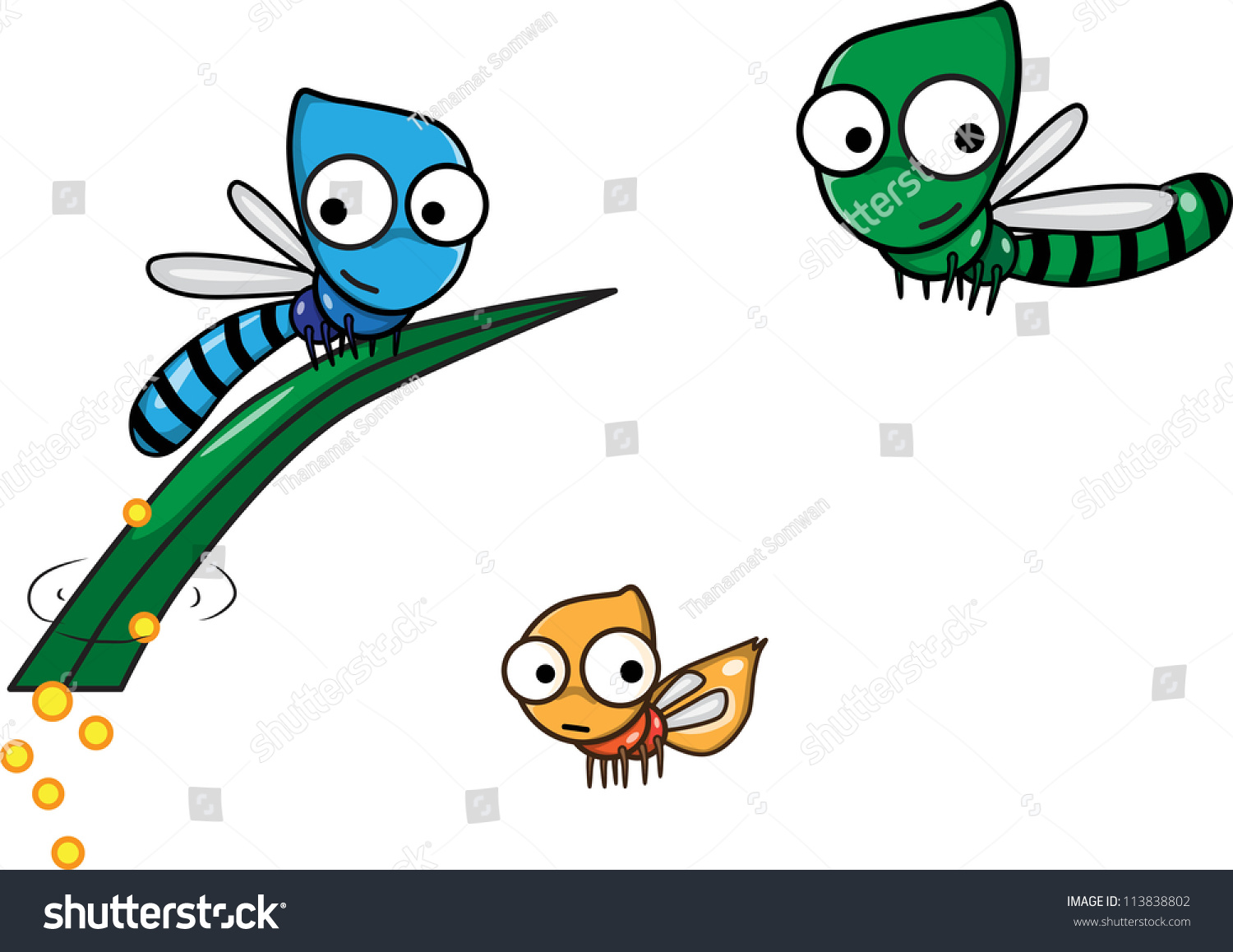 The Life Cycle Of The Dragonfly Stock Vector Illustration