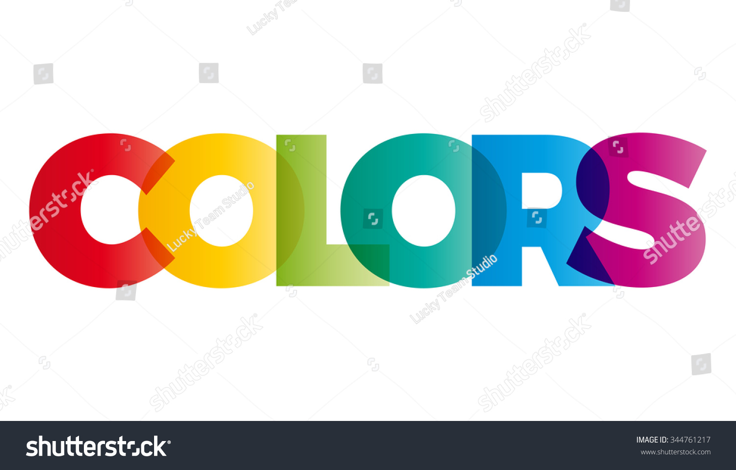 The Word Colors Vector Banner With The Text Colored