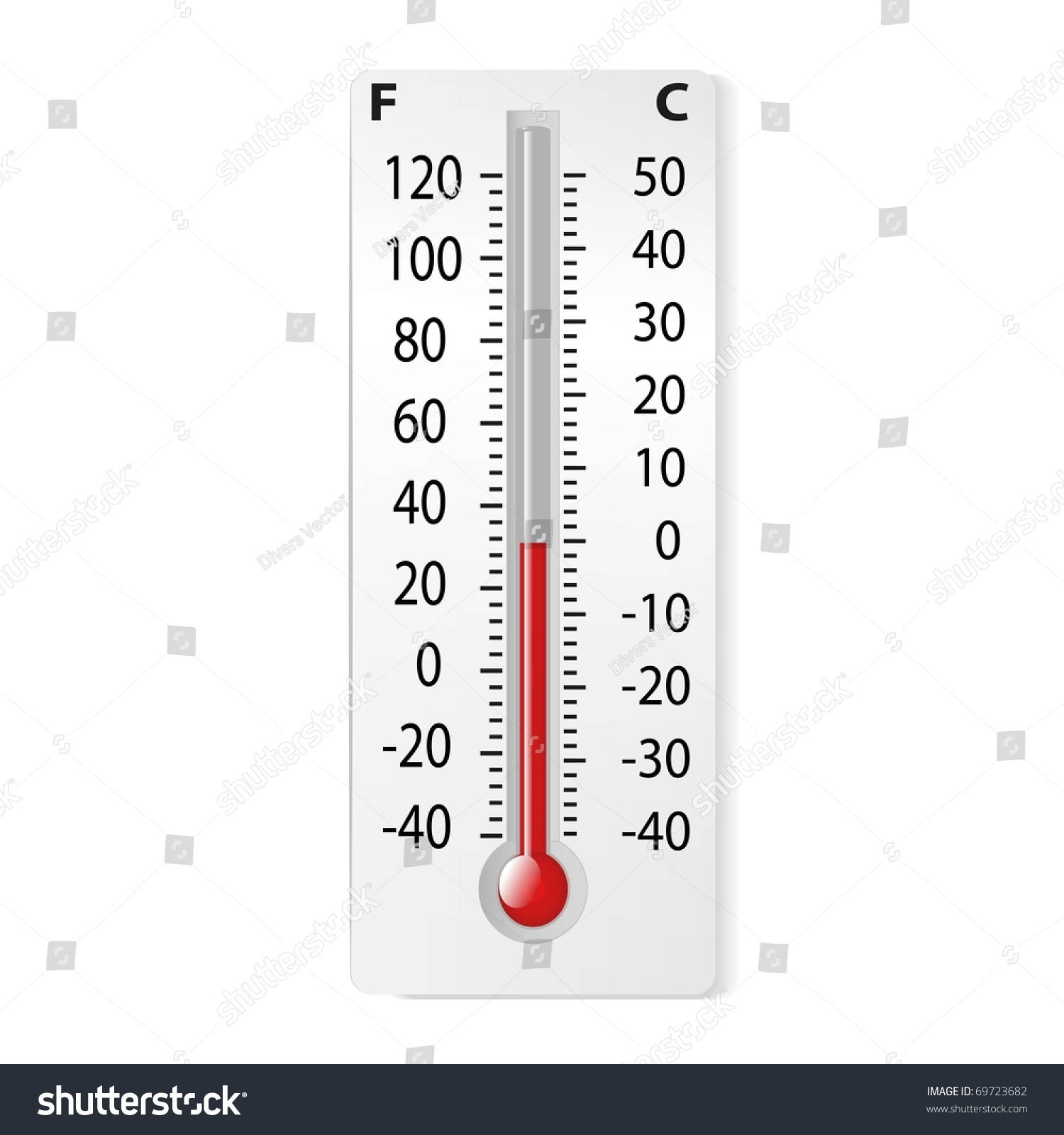There Thermometer Degrees Celsius Fahrenheit Vector Stock