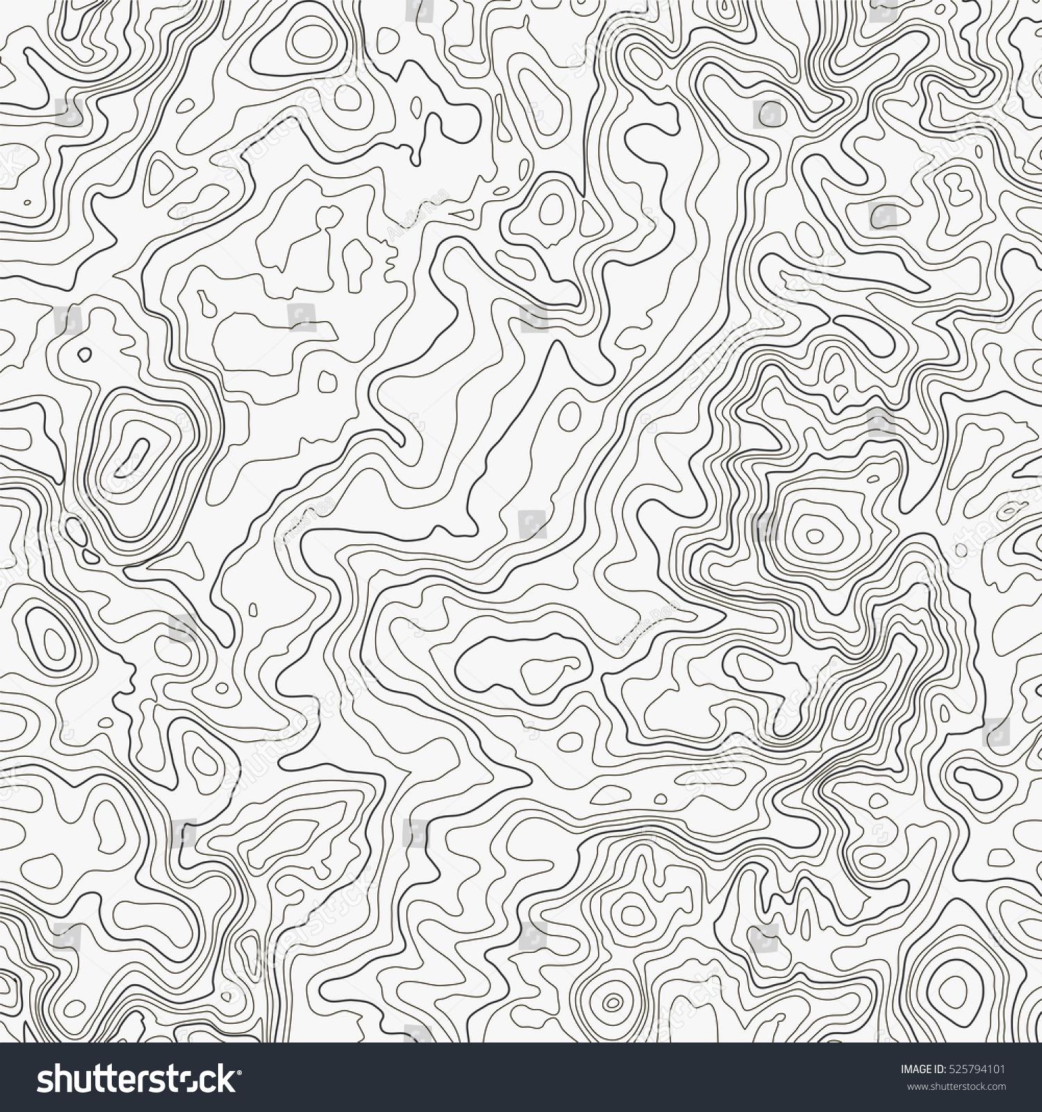 Topographic Map Background Concept Topo Contour Stock Vector