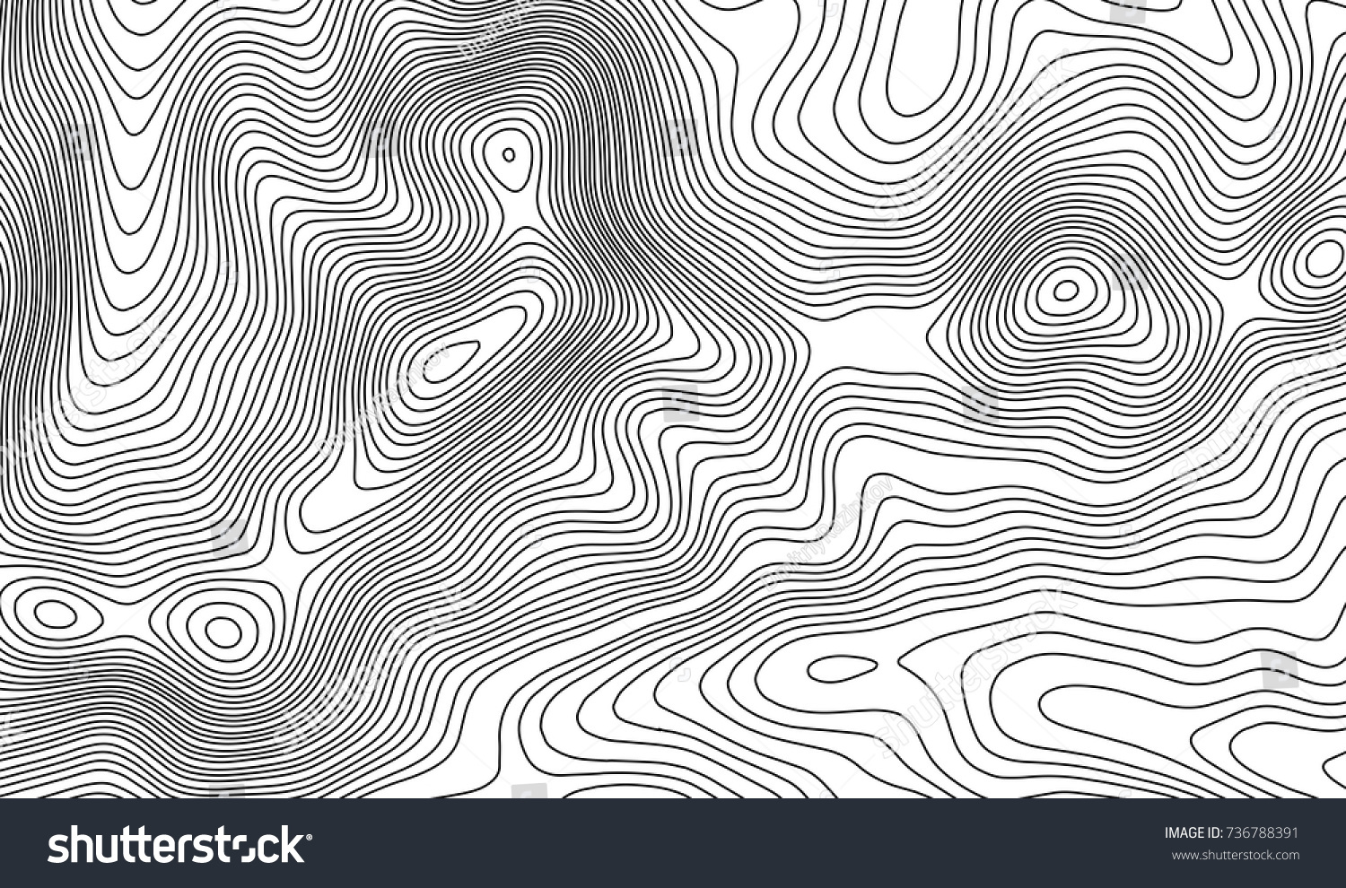 Topographic Map Contour Background Topo Map Stock Vector