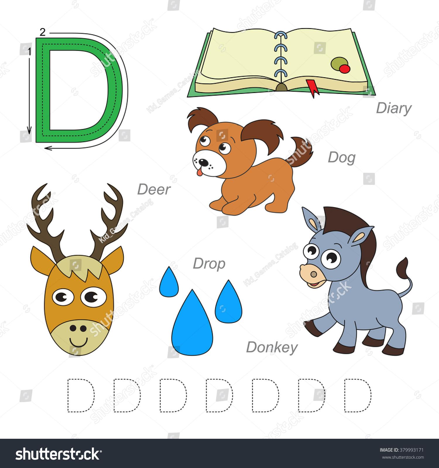 Deer Letter D Worksheet