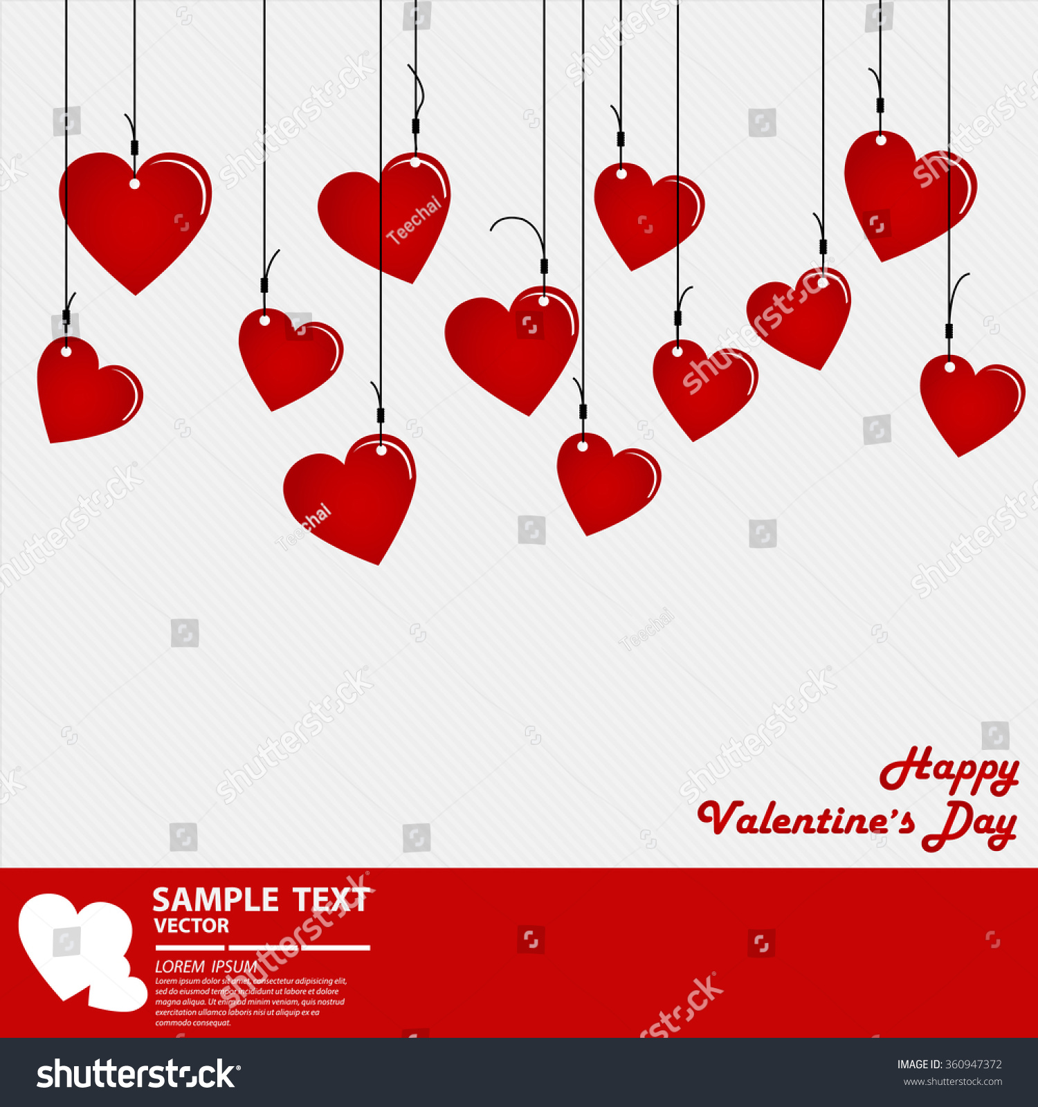 Valentines Day Abstract Background Cut Paper Stock Vector