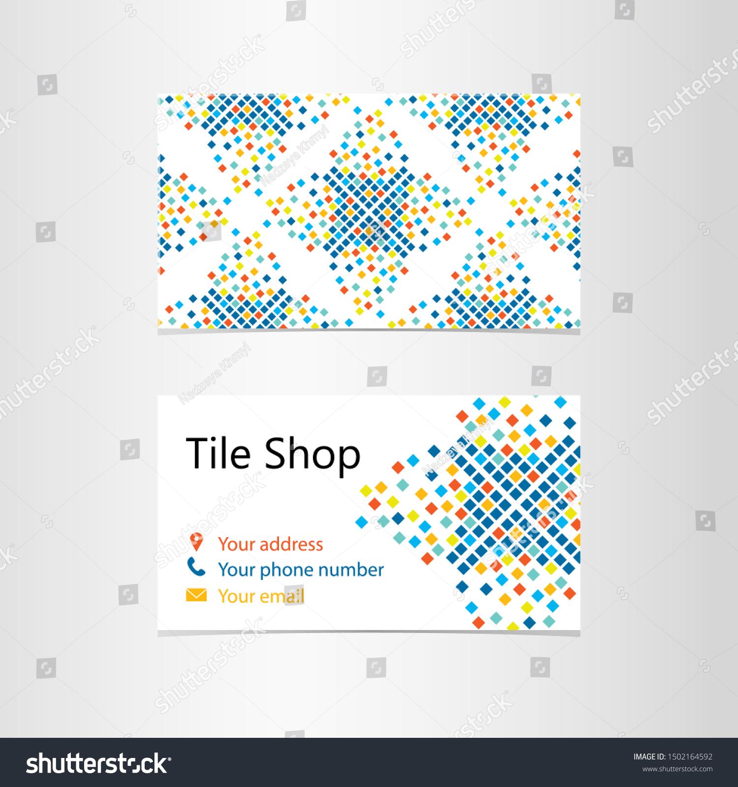 https www shutterstock com image vector vector business card template tile shop 1502164592