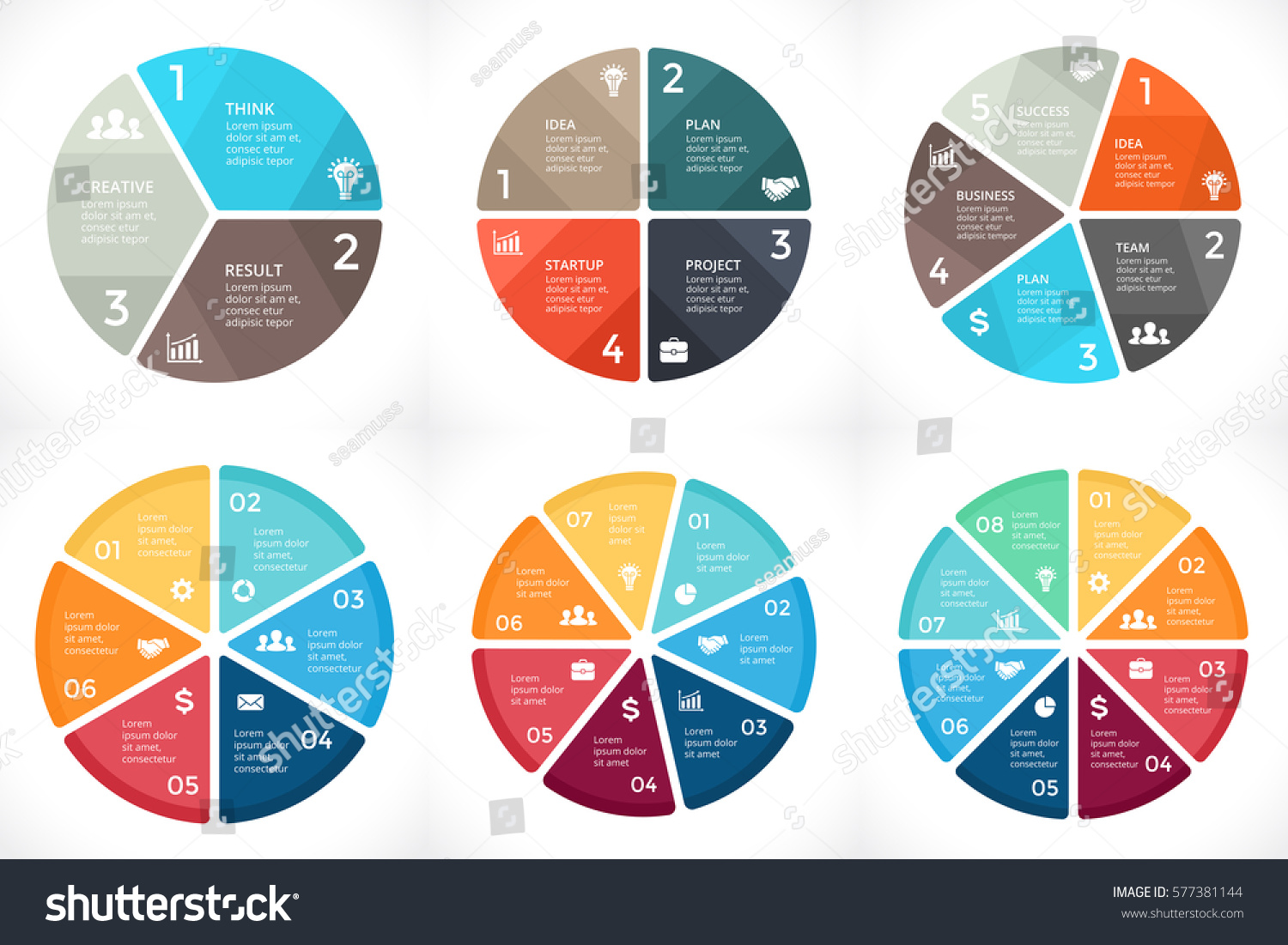 Vector Circle Arrows Infographic Cycle Diagram Stock