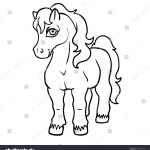 Vector De Stock Libre De Regalias Sobre Vector Cute Cartoon Line Art Pony677956714