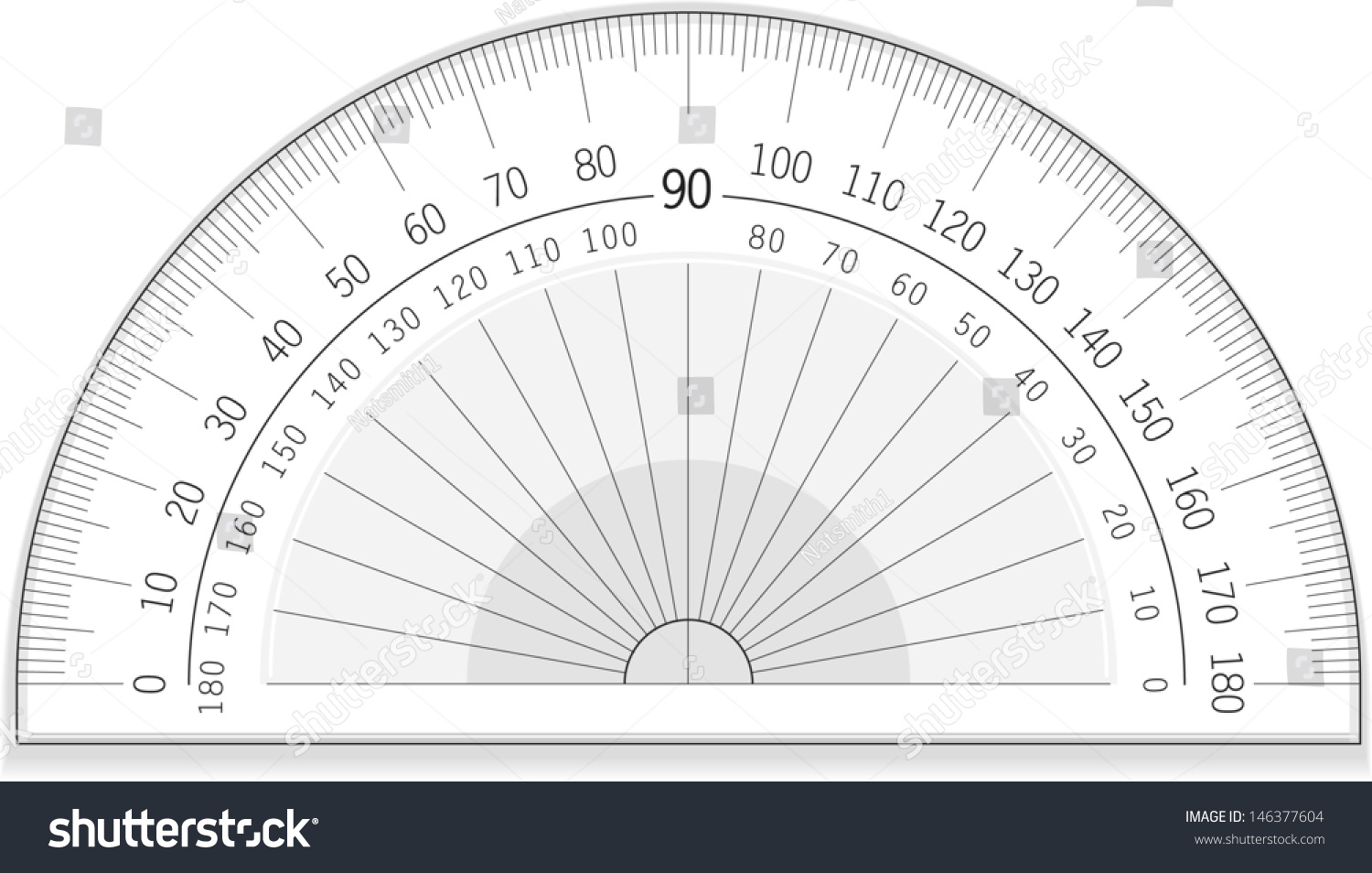 Vector Drawing Of An Accurate Protractor Protractor Great Useable File Of An Accurate Protractor