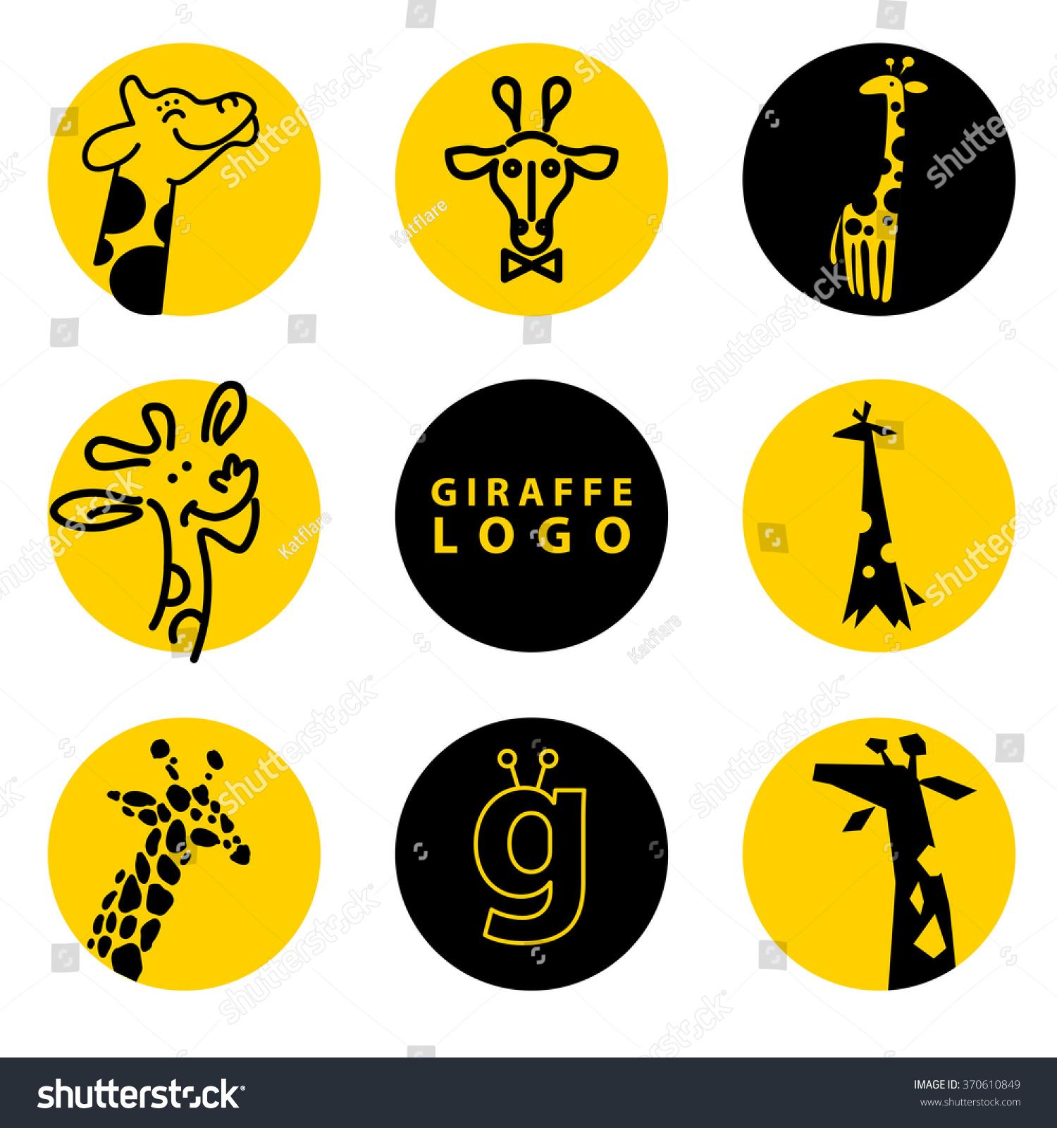 illustration wild animal logo isolated stylized icon collection