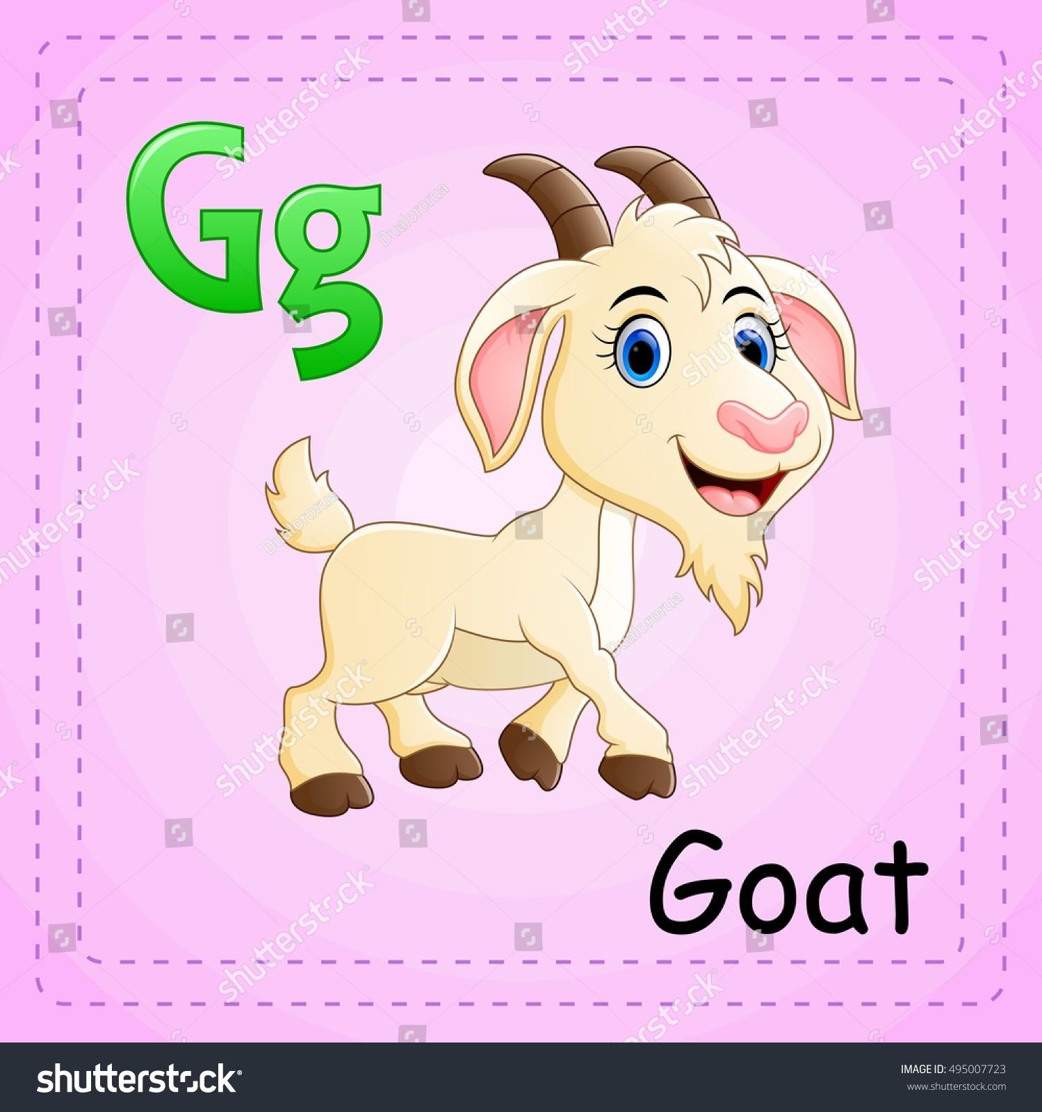 Vector Illustration Animals Alphabet G Goat Stock Vector