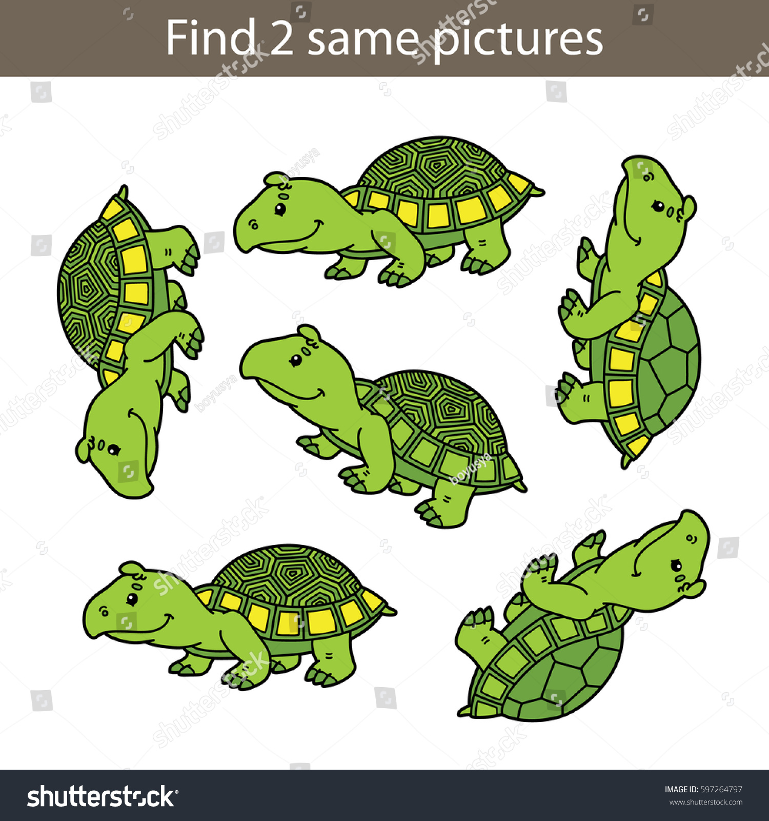 Vector Illustration Kids Puzzle Educational Game Stock