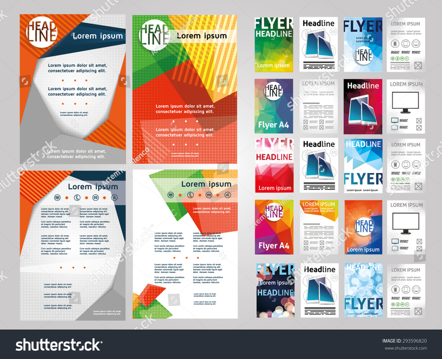 flyers examples invoice template receipt template certificate daycare flyer templates forms home 5 daycare flyer stock vector vector set of art
